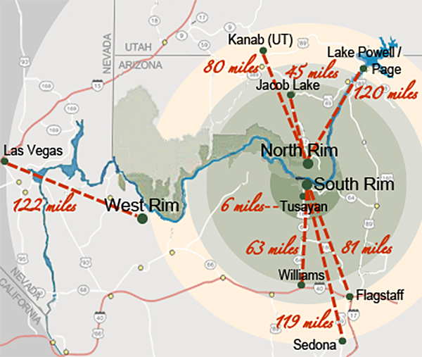 grand canyon sightseeing map The Grand Canyon Beyond Description Hooked On Everything grand canyon sightseeing map
