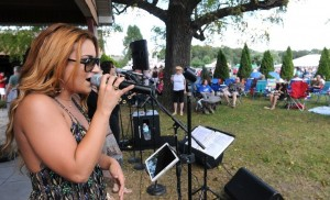 Angela DePersia performing