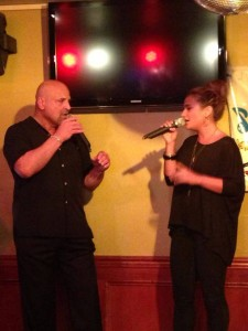 Angela DePersia singing with her Father Rocco DePersia