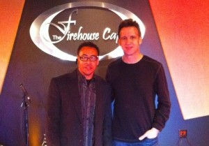 Eric Marienthal with owner Lou Rogers, Jr
