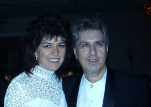 Joey Lattanzi with Patti Lattanzi on their  Wedding Day