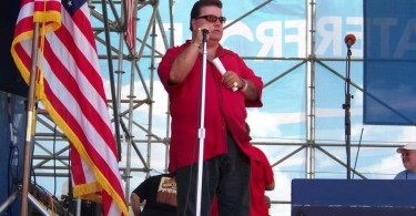 Lou Costello performing at his event