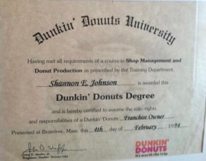 Dunkin' Donuts Franchise Certification