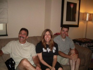 Shannon Johnson with brothers Maynard and Lou and