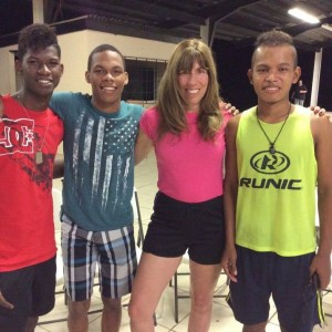 Shannon Johnson with orphans from Word of Life, Panama