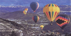 The View of mountain from Hot Air Balloon Ride