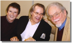 Tommy McCarthy with Broadcast Pioneers members Hy Lit & Bill Wright