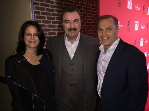 Michelle Widlitz, Tom Selleck and Al Sapienza