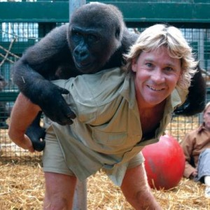 "Steve Irwin and ""friend"""