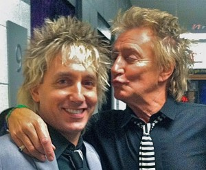 Jay Gates and Rod Stewart