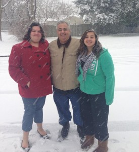 Lou Pacheco and his daughters