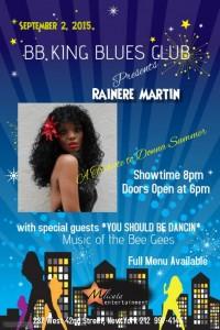Rainere Martin at B.B. King's Blues Club & Grill