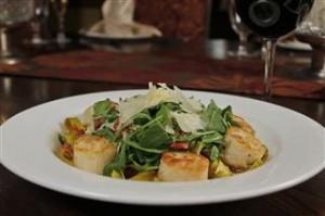 Lemon Chive Fettucini with Scallops