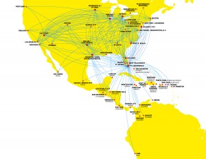 spiritairlinesroute_map-300x232 Spirit Airlines: The Country's Ultra Low Cost Carrier