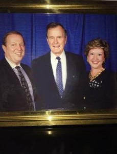 Walt Guarino and George Bush Sr.