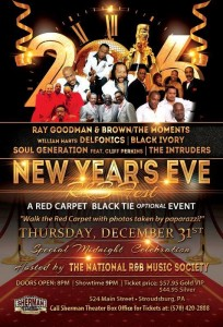National R&B Music Society New Years Eve Black Tie Event