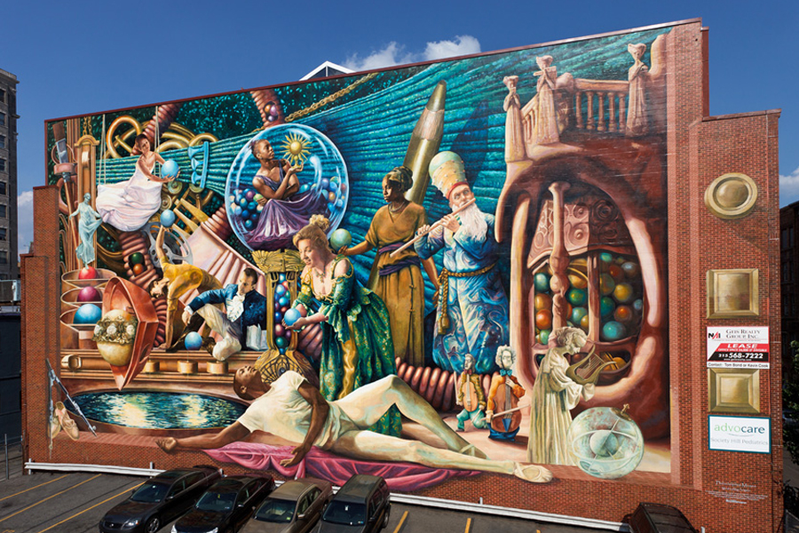 Philadelphia s urban renaissance for Mural painting images