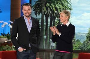 Ellen DeGeneres and Leonardo DiCaprio