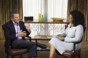 Oprah Winfrey and Lance Armstrong