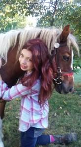 Julia Zane & her pony