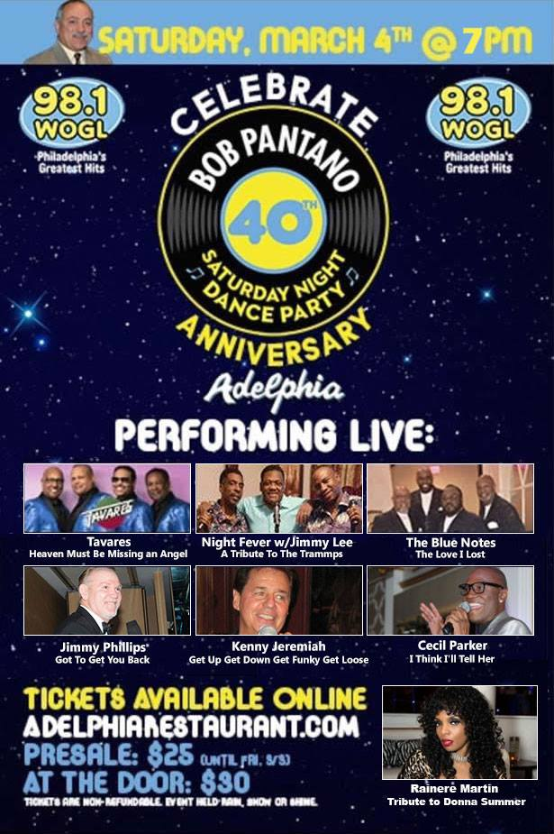 40th anniversary Bob Pantano Saturday night