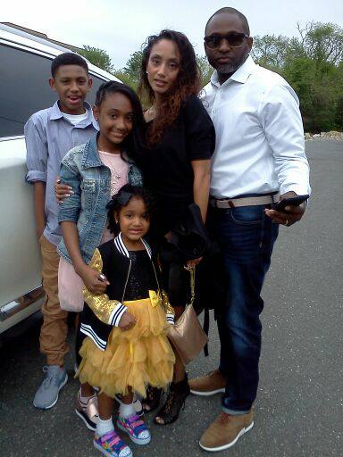 Felicia Rodriguez-Pendergrass with Kids and Husband