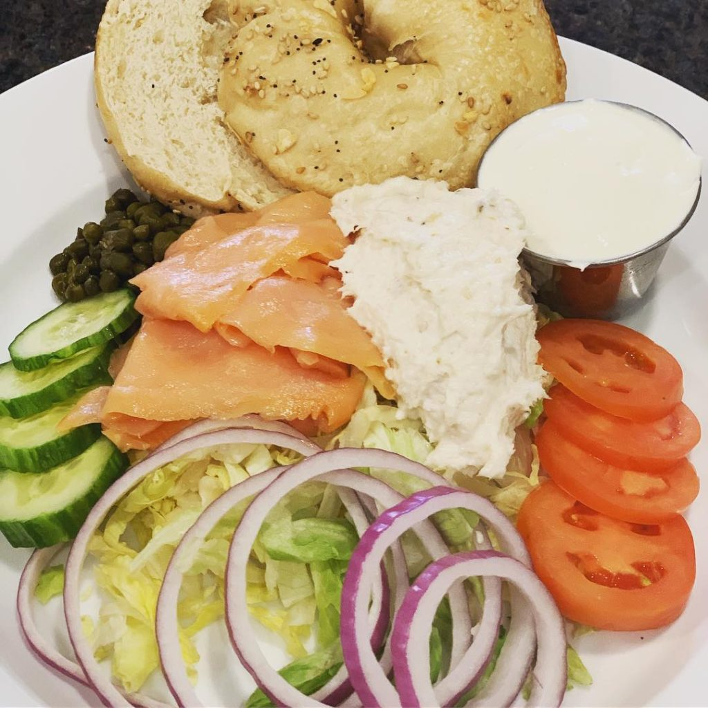 Tank and Libby's Bagel and Lox