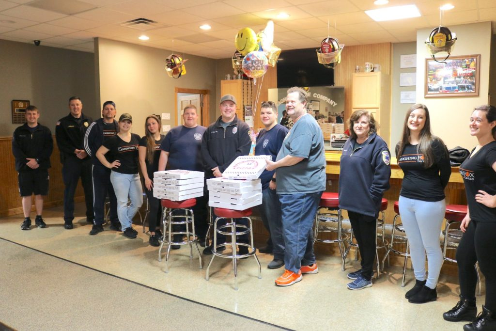 The Laughing Fox Tavern: donation to first line responders